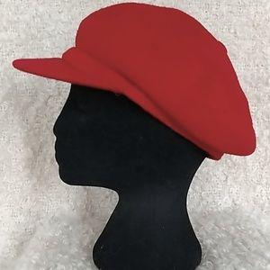 KANGOL ! rare !  Red wool Spitfire hat...sz